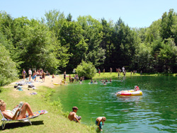Swimming Pond at northstar campground